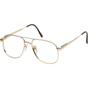 OnGuardPrescriptionSafetyGlasses,MetalAviatorFrame