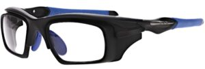 Model RX-WAR101 Safety Glasses in Black/Blue RX-WAR101-BKBL