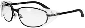 Model RX-525 Metal Safety Glasses in Black RX-525-BK