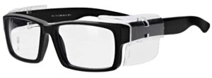 Model RX-17013E Safety Glasses in Black RX-17013E-BK