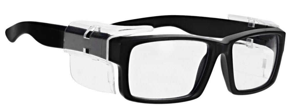 Model RX-17013E Safety Glasses in Black RX-17013E-BK
