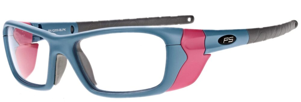 Model RX-Q200 Plastic Safety Glasses in Blue/Pink RX-Q200-BLPK
