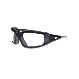 Bolle Tracker Black Safety Glasses with Clear Lens BO-TRACKER-40085