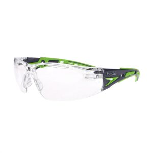 Bolle Rush+ Blue/Green Clear Safety Glasses BO-RUSH+-40256