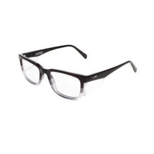 Wiley X Worksight Judge Safety Glasses in Gloss Black to Clear Fade WX-WSJDG03